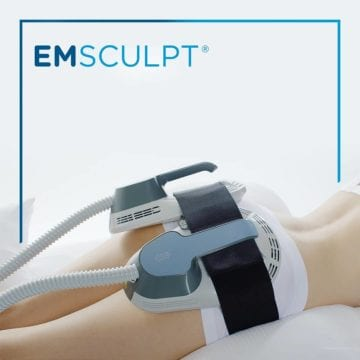Emsculpt procedure for buttock improvements